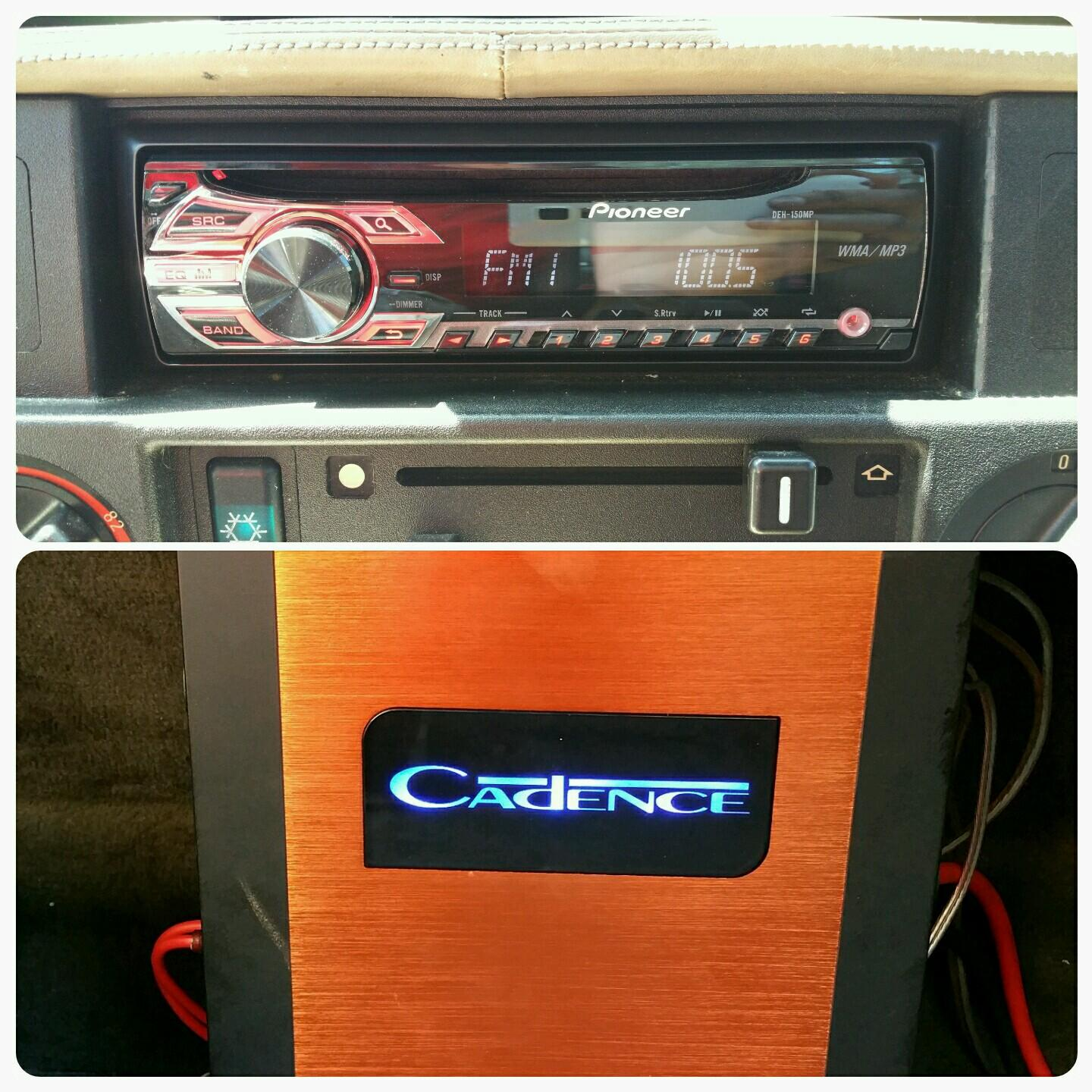88 BMW M5 with a new Pioneer head unit with new door speakers all the way around. All door speakers are being pushed by this Cadence Amp.